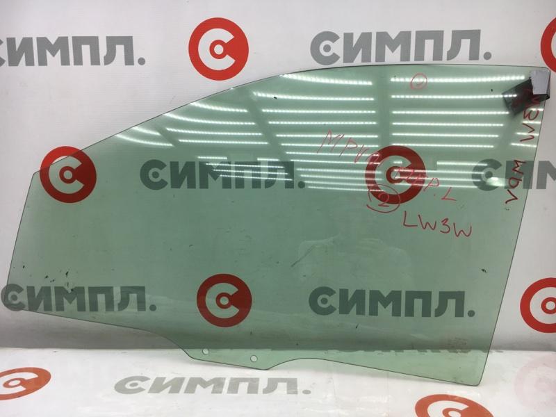Стекло боковое Mazda Mpv LW3W L3 2001 переднее левое GRN, 2 (б/у)