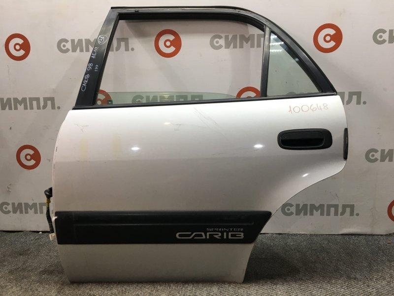 Дверь боковая Toyota Carib AE111 4A 1998 задняя левая 100648 (б/у)