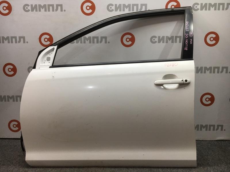 Дверь боковая Toyota Allion ZZT240 1ZZ 2005 передняя левая 02380 (б/у)