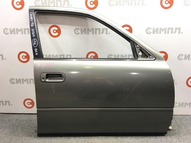 Дверь боковая Toyota Camry SV30 1993 передняя правая 73181 (+21.05.20) Цвет - 6K6. Сломана ручка. Снят (б/у)