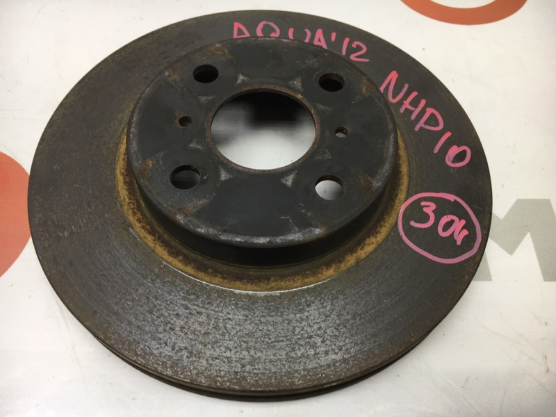 Диск тормозной Toyota Aqua NHP10 1NZ-FXE 2012 передний правый (б/у)