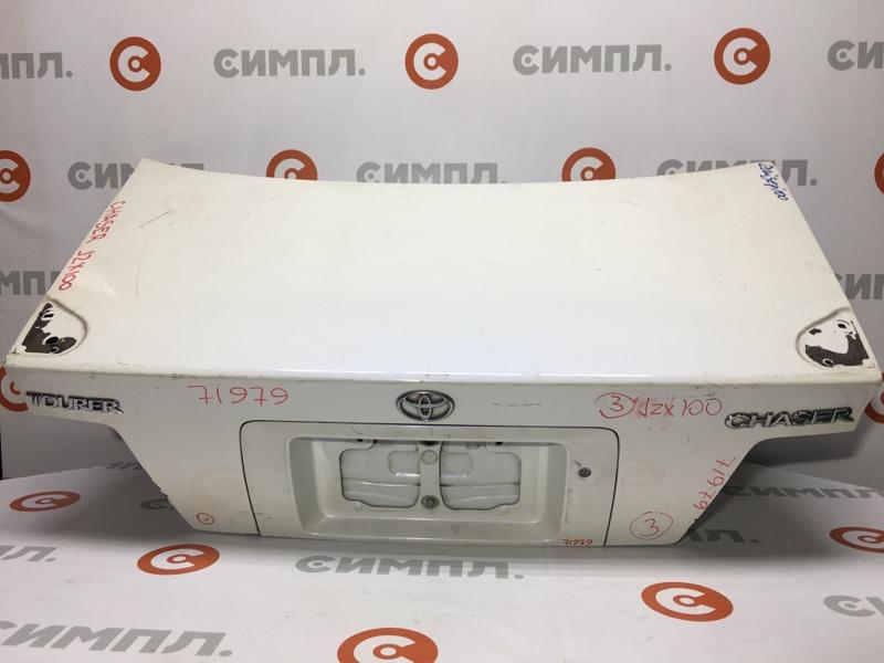 Крышка багажника Toyota Chaser GX100 71979 (+21.05.20) Есть отверстия под спойлер (см. фото). 11С. (б/у)