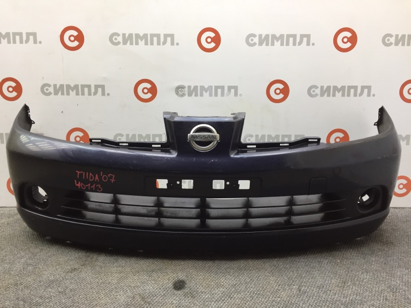 Бампер Nissan Tiida C11 2007 передний 40113 (+14.05.20) Черный. Дорестайл. (б/у)