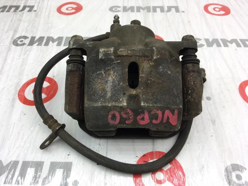 Суппорт тормозной Toyota Ist NCP60 2NZ передний правый (б/у)
