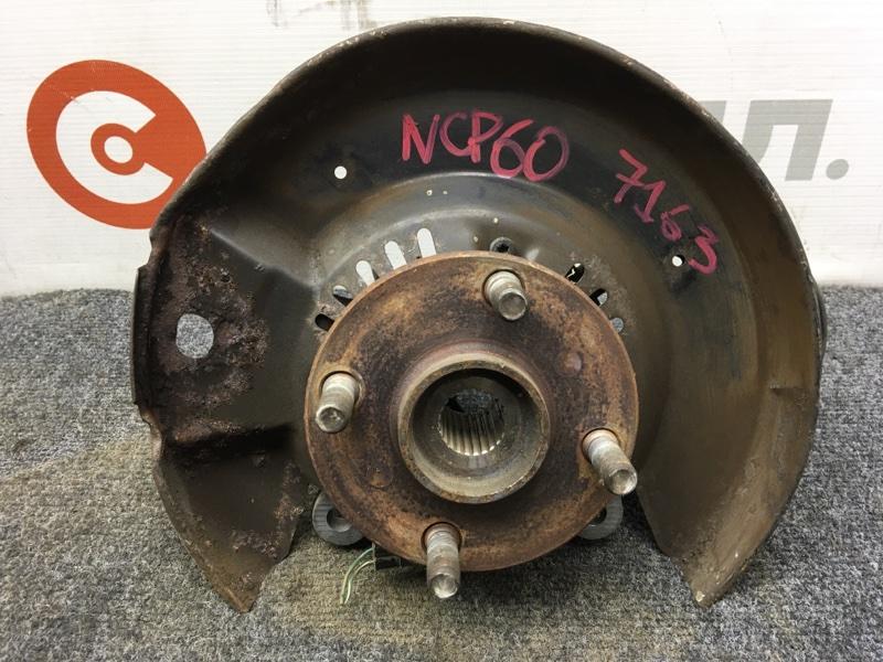 Ступица Toyota Ist NCP60 2NZ передняя правая Снят суппорт, тормозной диск. (б/у)