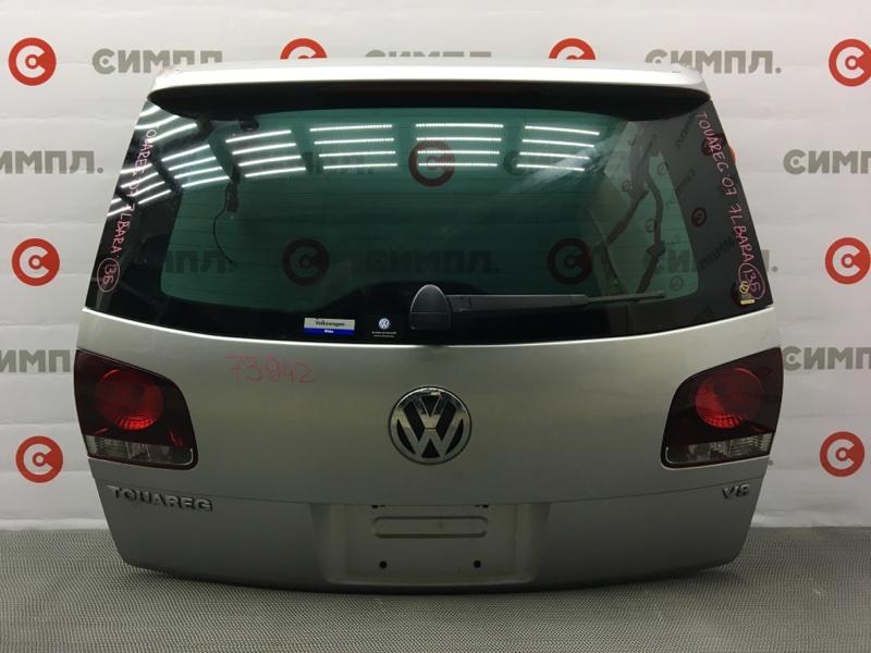 Дверь багажника Volkswagen Touareg 7LA 2007 73942 (+14.05.20) Серая. Петли. 13Б (б/у)
