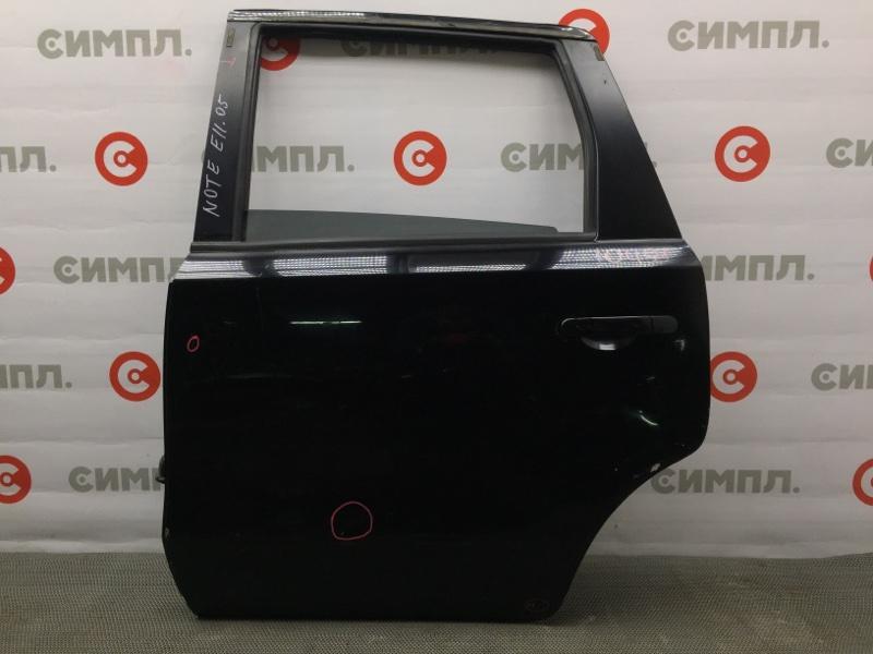Дверь боковая Nissan Note E11 задняя левая 10491 (+28.04.20) Черная. (б/у)