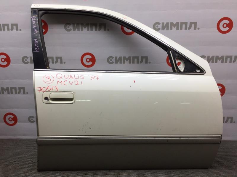 Дверь боковая Toyota Mark Ii Qualis SXV20 1997 передняя правая 70513 (+21.05.20) 12ВТ Цена указана за (б/у)