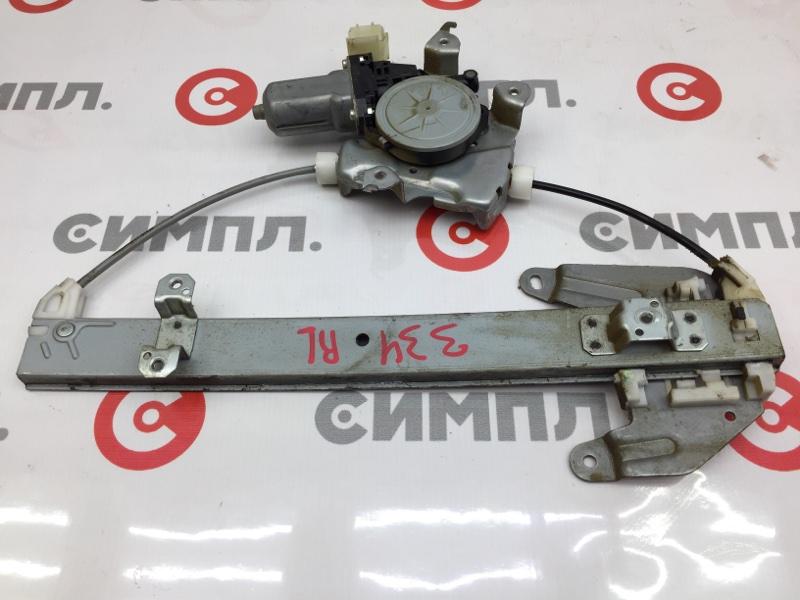 Стеклоподъемный механизм Nissan X-Trail NT31 MR20DE 2009 задний левый (б/у)