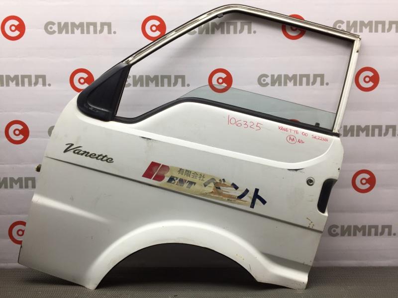 Дверь боковая Nissan Vanette SK22VN R2 2000 передняя левая 106325 (б/у)