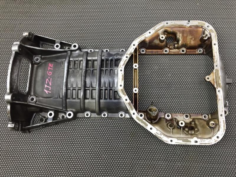 Поддон Toyota Mark Ii JZX110 1JZGTE 2002 Полуподдон, верхний. (б/у)