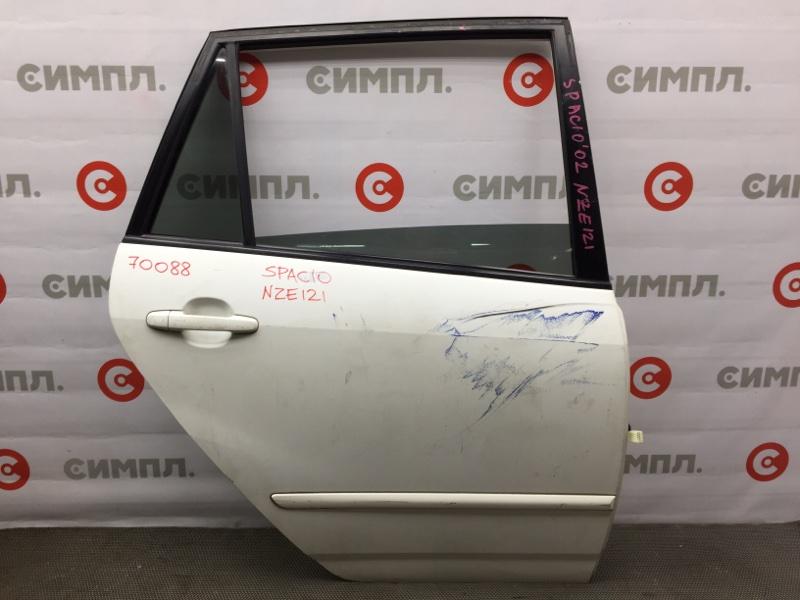 Дверь боковая Toyota Corolla Spacio NZE121 2002 задняя правая 70088 (+20.05.20) 10В.[T] Цена указана за (б/у)