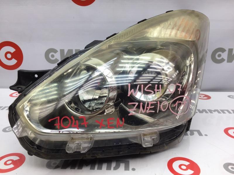 Фара Toyota Wish ZNE10 1ZZ 2007 передняя левая 7047 Ксенон. (б/у)