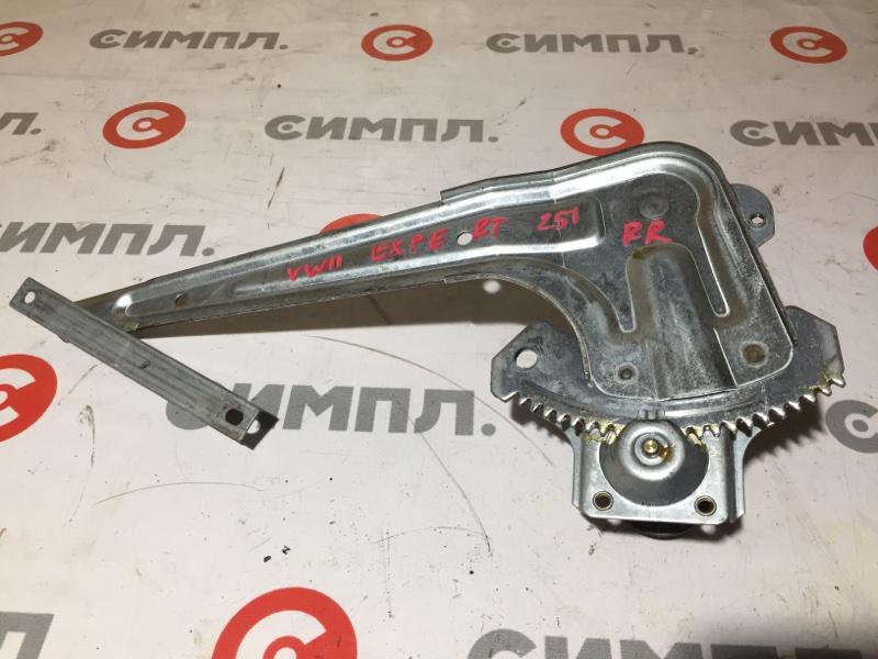 Стеклоподъемный механизм Nissan Expert VW11 QG18 2005 задний правый Механический. (б/у)