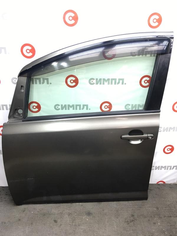 Замок двери Toyota Ractis NCP100 1NZ 2006 передний левый (б/у)