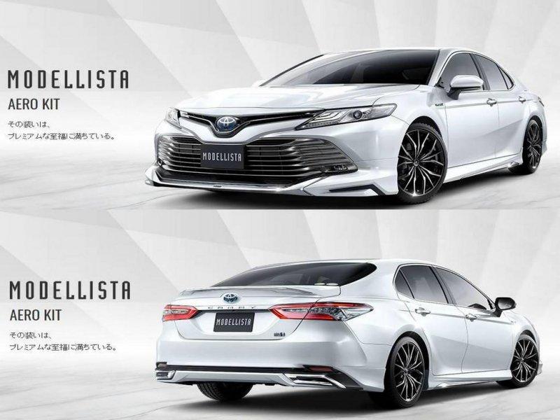 Обвес кузова Toyota Camry ASV70 2AR 2017 Комплект обвеса реплика Modellista. В комплекте: губа,