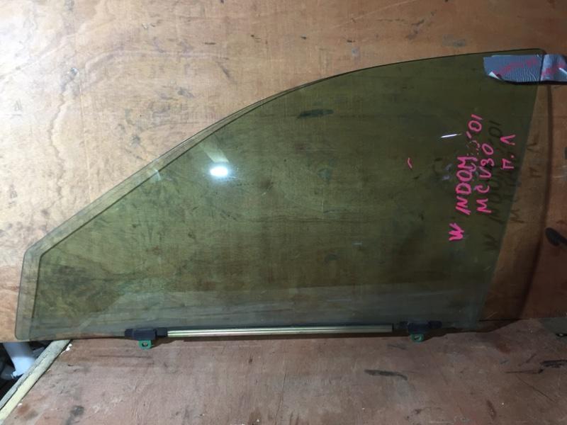 Стекло боковое Toyota Windom MCV30 1MZ 2001 переднее левое (б/у)