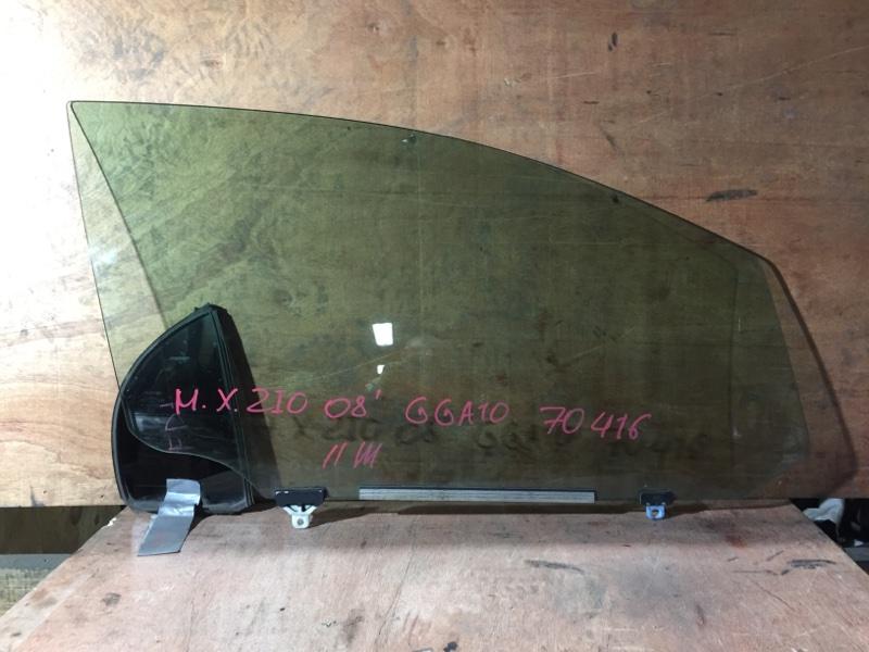 Стекло боковое Toyota Mark X Zio GGA10 2GR 2008 переднее правое (б/у)