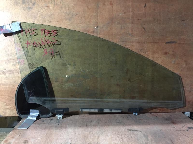 Стекло боковое Toyota Caldina ZZT241 1ZZ 2003 переднее правое (б/у)