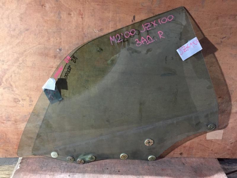 Стекло боковое Toyota Mark Ii JZX100 1JZ 1998 заднее правое (б/у)