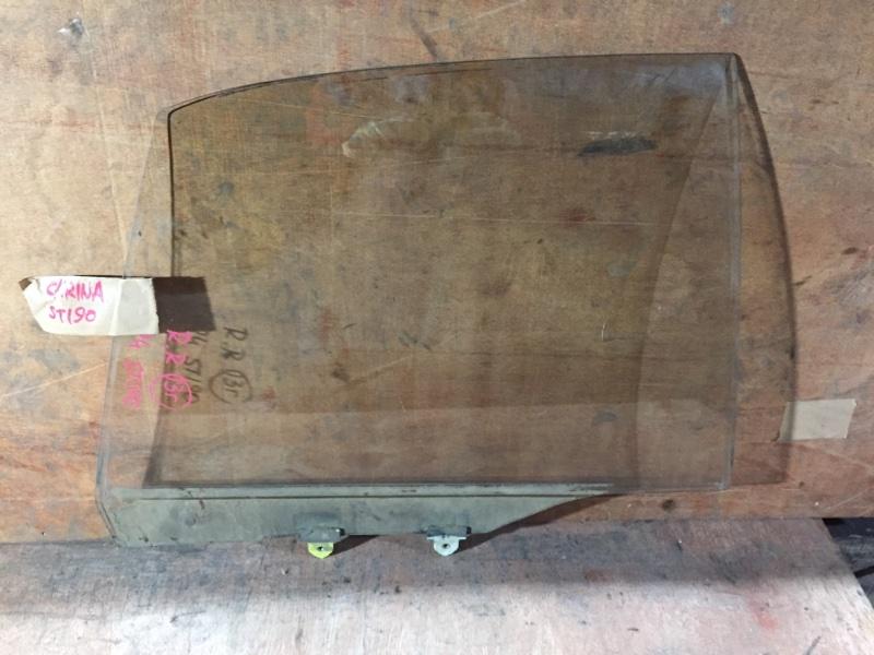 Стекло боковое Toyota Carina ST190 3S 1994 заднее правое (б/у)