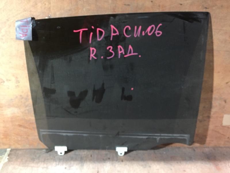 Стекло боковое Nissan Tiida C11 HR15 2006 заднее правое (б/у)