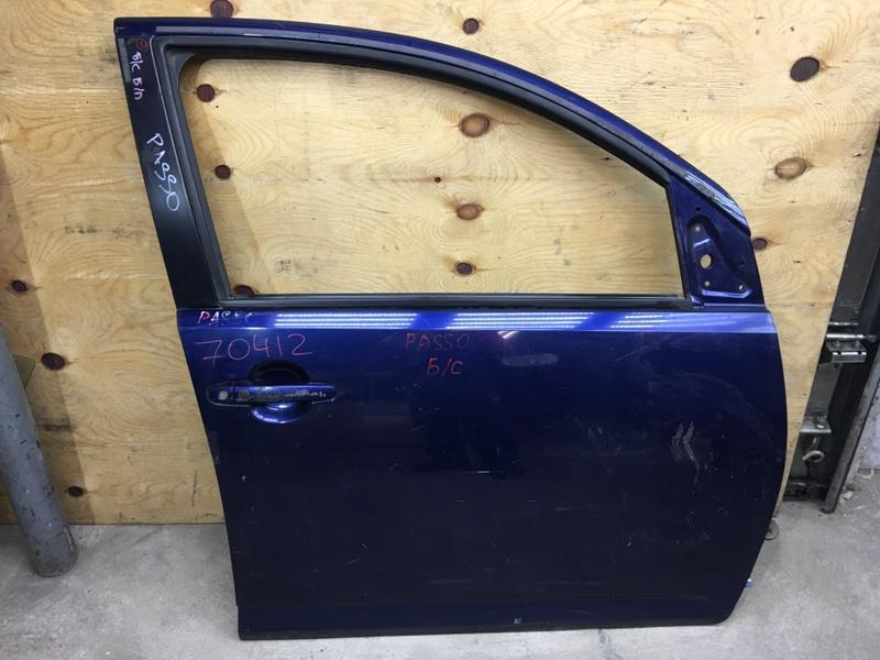 Дверь боковая Toyota Passo KGC10 передняя правая 70412 (+21.05.20) Снято стекло. Синяя Цена (б/у)