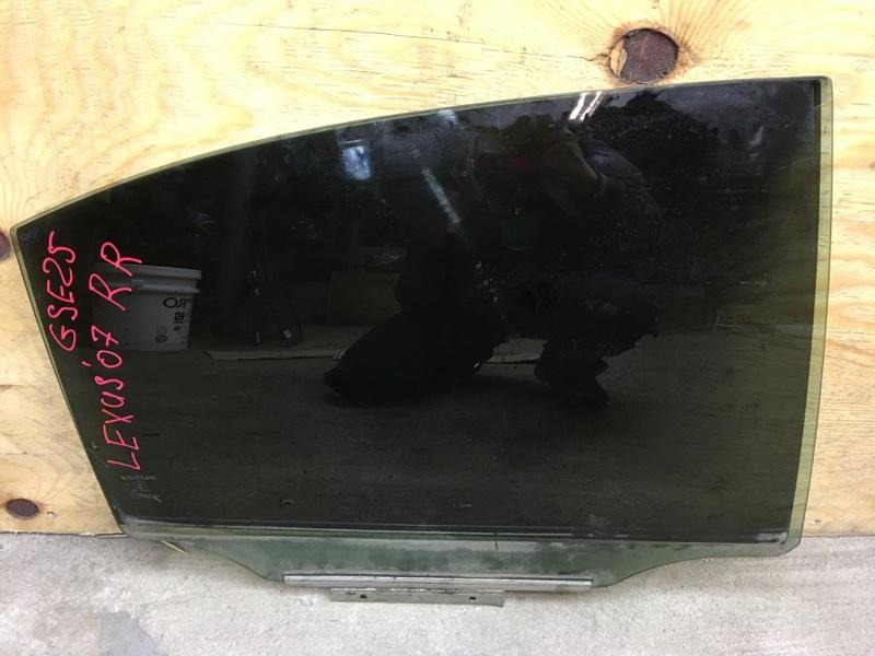 Стекло боковое Lexus Is250 GSE25 4GR 2006 заднее правое (б/у)