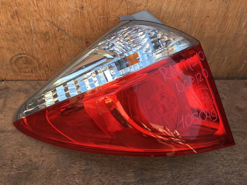 Задний фонарь Toyota Ractis NCP120 1NZ 2010 задний левый 52-226 2 шт. (б/у)