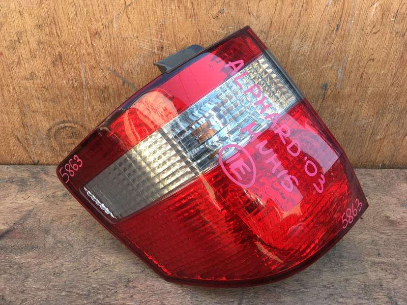Задний фонарь Toyota Alphard MNH10 1MZ 2003 задний левый 58-5, 5863 (б/у)