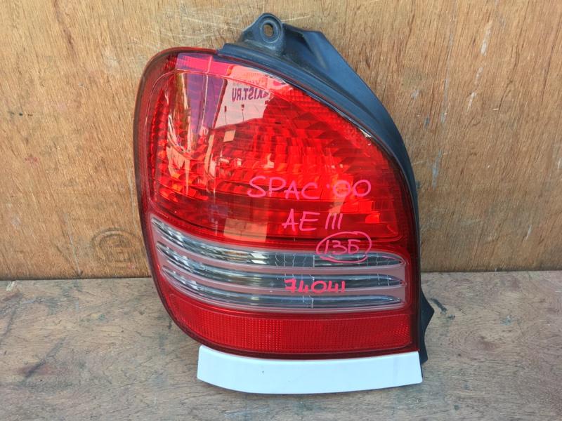 Задний фонарь Toyota Corolla Spacio AE111 4A 2000 задний левый 13-58, 53-12503, 74041 (б/у)