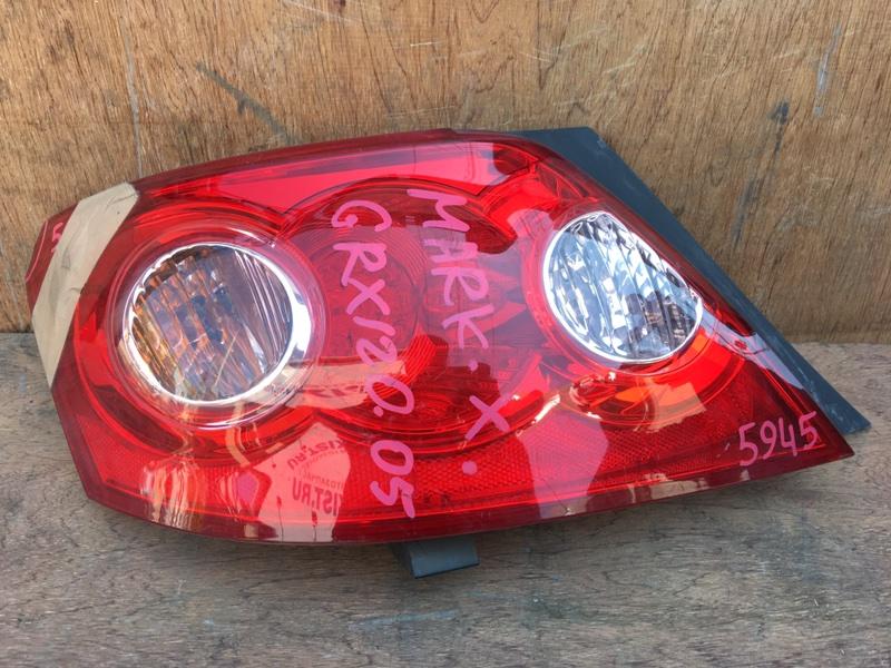 Задний фонарь Toyota Mark X GRX120 4GR 2005 задний левый 22-333, 5945 Скол (см. фото). (б/у)