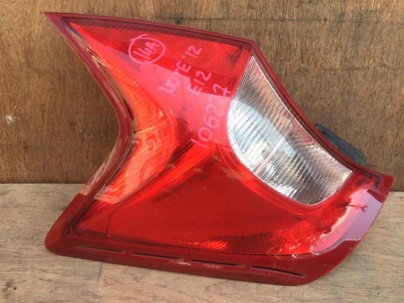 Задний фонарь Nissan Note E12 HR12 2012 задний левый D117, 106277 (б/у)