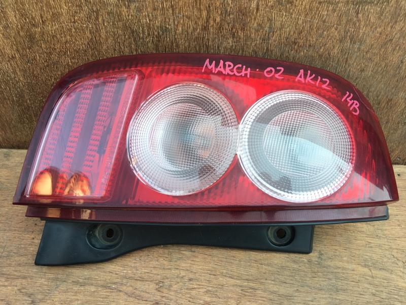 Задний фонарь Nissan March AK12 CR12DE 2002 задний левый 4953 Трещина (см. фото). (б/у)