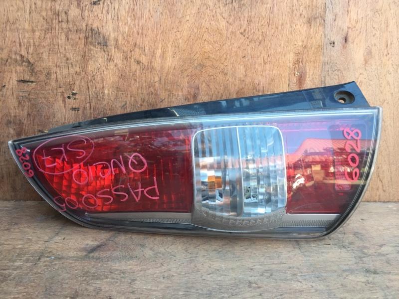 Задний фонарь Toyota Passo QNC10 K3VE 2005 задний левый 220-51762, 6028 (б/у)