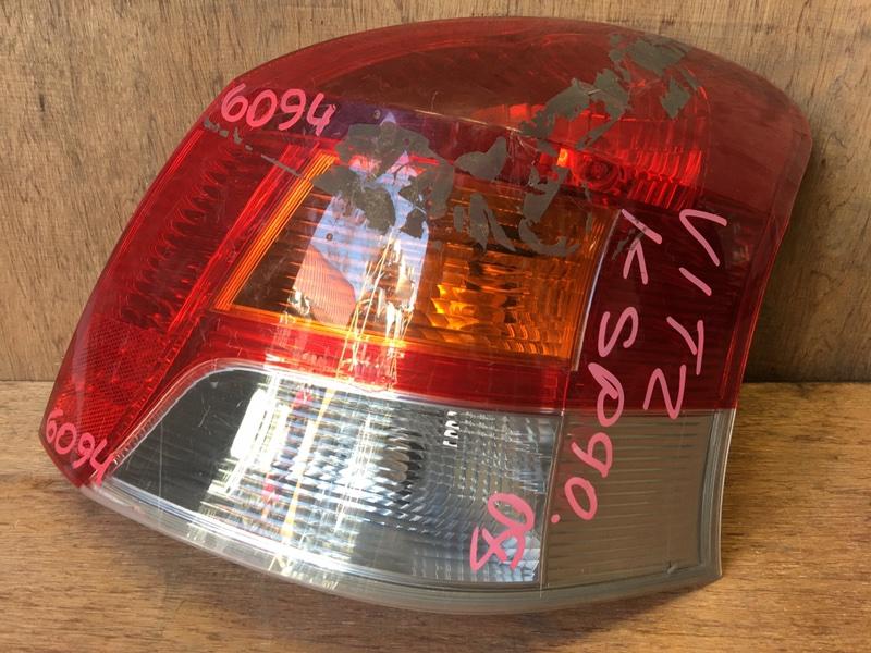 Задний фонарь Toyota Vitz KSP90 1KR 2008 задний правый 52-185, 6094 Дефекты (см. фото). (б/у)