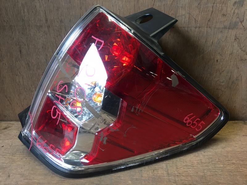Задний фонарь Subaru Forester SH5 EJ20 2008 задний правый 220-20046, 220-20048, 6655 Скол (см. фото). (б/у)
