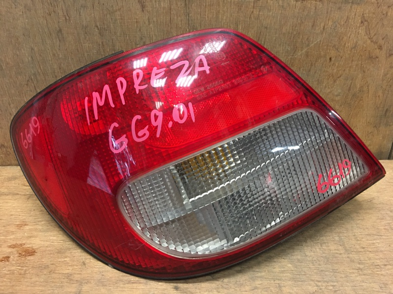 Задний фонарь Subaru Impreza GG2 EJ15 2001 задний левый 26060 (б/у)