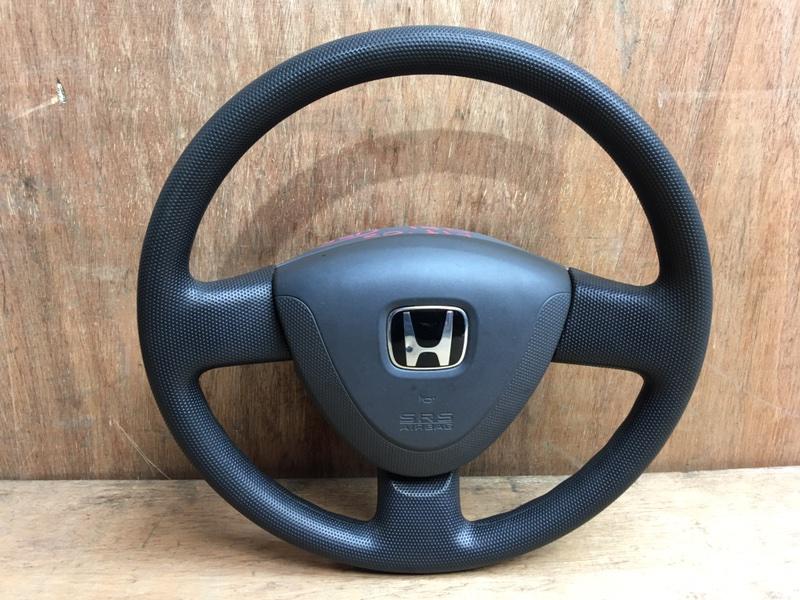 Руль Honda Fit GD1 L13A 2002 Продается в сборе с подушкой безопасности, без пиропатрона. (б/у)
