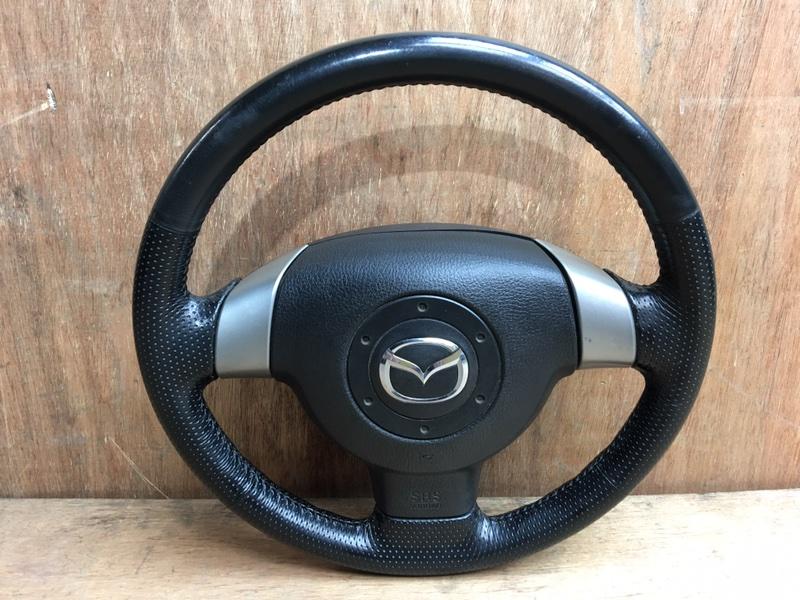 Руль Mazda Demio DY3R ZJ 2007 Продается в сборе с подушкой безопасности, без пиропатрона. (б/у)