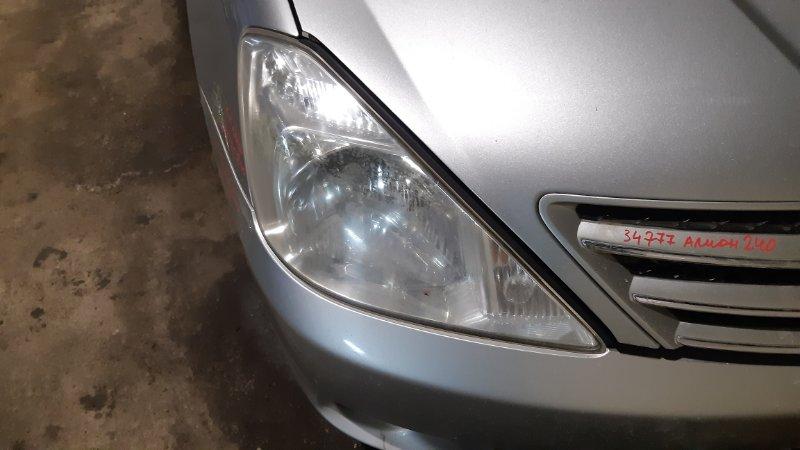 Фара Toyota Allion AZT240 1NZFE 2002 правая