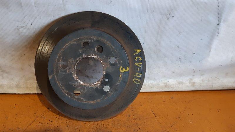 Диск тормозной задний Toyota Camry ACV45 2ARFE 2008 задний