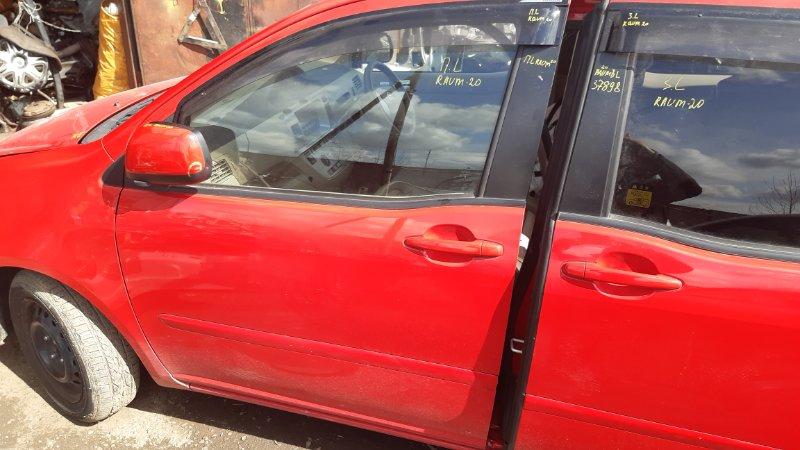 Дверь боковая Toyota Raum NCA25 1NZFE 2003 передняя левая