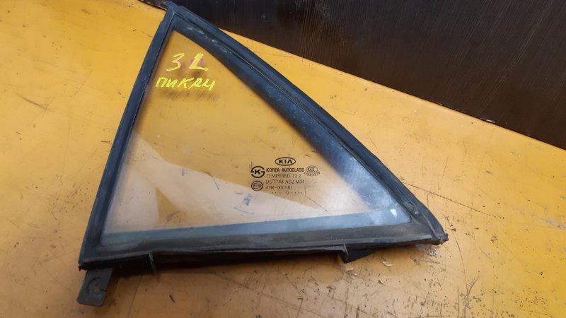 Форточка двери Kia Picanto TA B3LA 2011 задняя левая