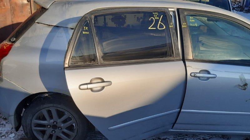 Дверь боковая Toyota Allex CE121 1NZFE 2001 задняя правая