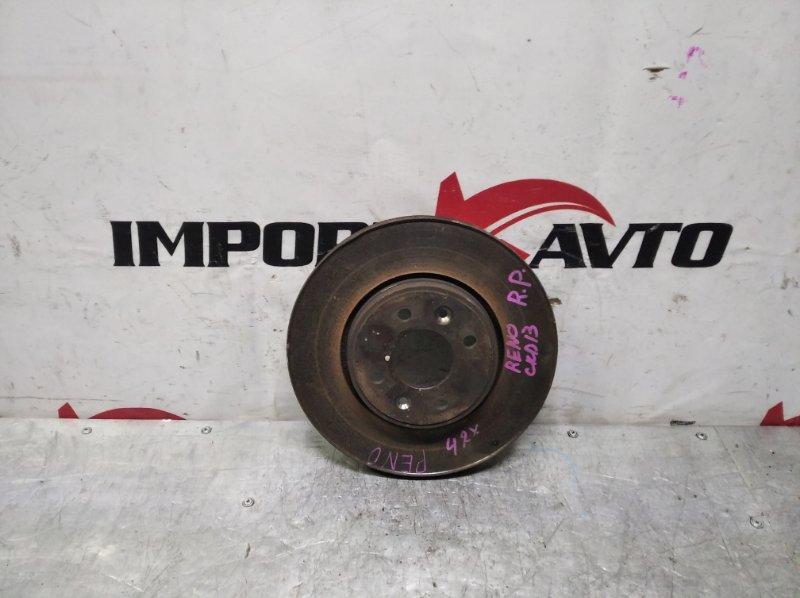 диск тормозной RENAULT MEGANE KM0U F4R 2006-2009 передний правый