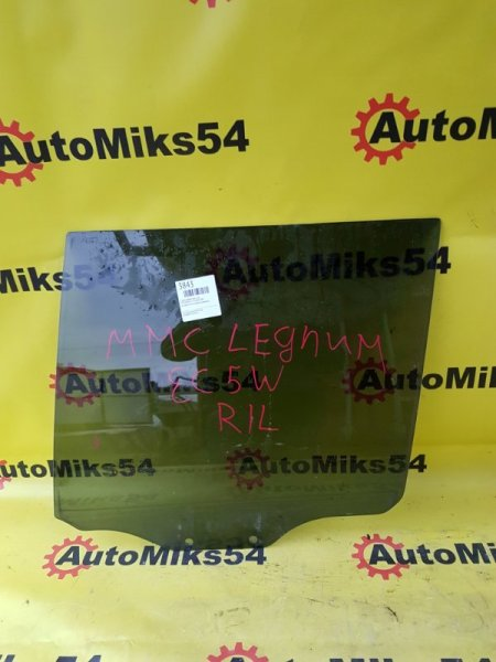 Стекло двери Mitsubishi Legnum EC5W заднее левое