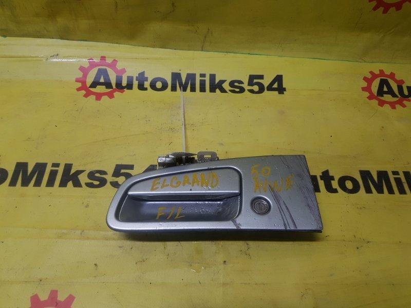 Ручка двери внешняя Nissan Elgrand ALWE50 QD32ETI 1998 передняя левая