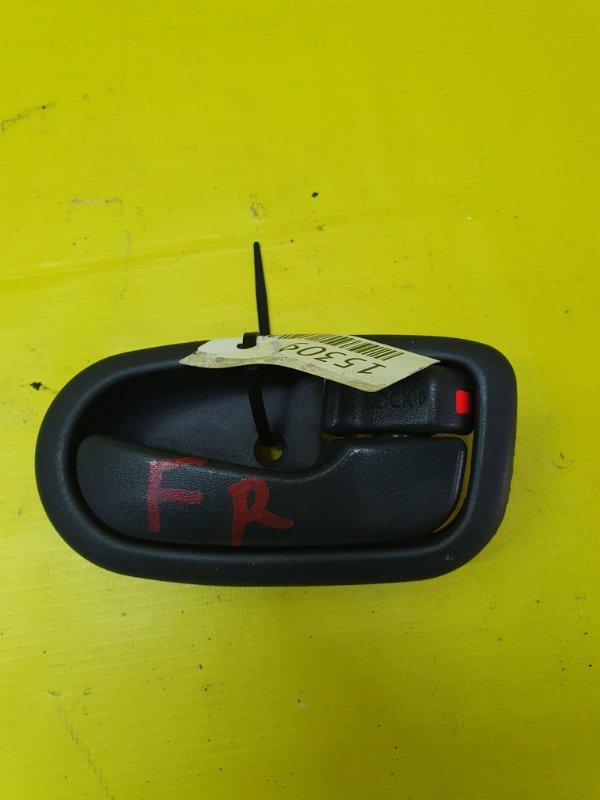 Ручка двери внутренняя Daihatsu Yrv M201G K3-VE 2000 передняя правая
