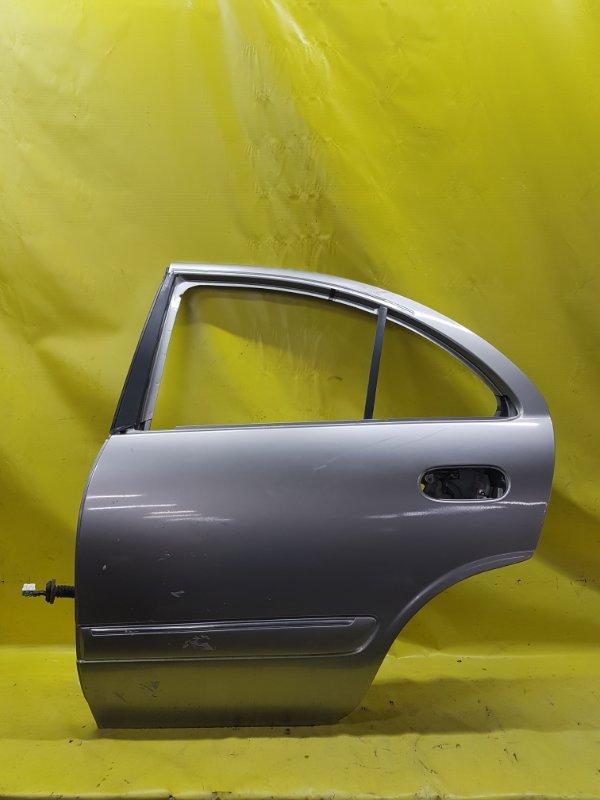 Дверь Nissan Bluebird Sylphy QNG10 QG18 2001 задняя левая
